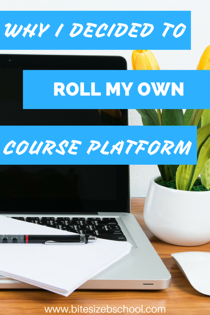 Why I decided to foll my own course platform